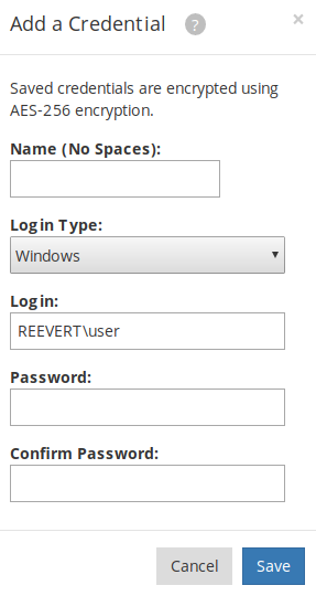 Add a Credential - reevert