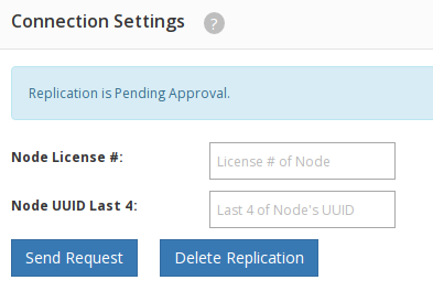 Replication Manager Connection Settings Pending - reevert