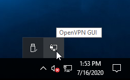 VPN GUI Taskbar Icon