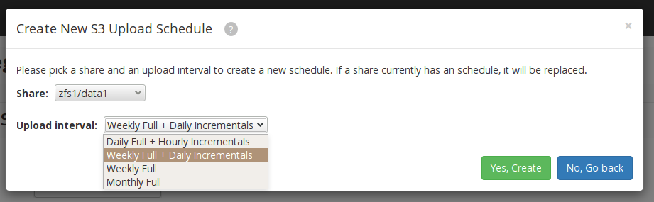 Utilize incremental backups - reevert